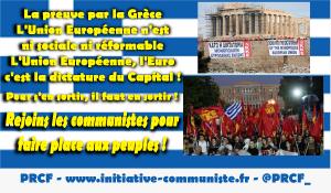 Grèce : mobilisation avec les communistes pour stopper la nouvelle euro offensive austéritaire de Tsipras UE PGE !