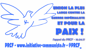 """""""Le mouvement syndical, doit lever le drapeau de la lutte pour la paix"""" – Jean Pierre Page"""