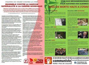 Ensemble contre la marche impérialiste à la guerre mondiale – Déclaration commune du PRCF, du CSCI et du RCC