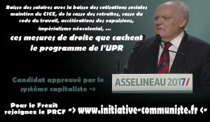 François ASSELINEAU candidat du FREXIT progressiste ? pour le moins on peut en douter !