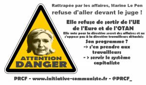 Marine Le Pen une très riche héritière à la fortune honteuse qui refuse d'aller devant le juge !