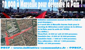 Meeting à Marseille : 70 000 pour la Paix et la sortie de l'OTAN avec le candidat Mélenchon #JLMMarseille