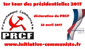 #Présidentielle2017 – déclaration du PRCF sur les résultats du 1er tour de la présidentielle 2017 [Fr/En/It]