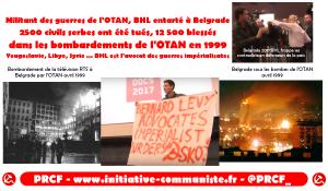 BHL entarté en Serbie : de jeunes communistes dénoncent sa responsabilité dans les crimes de l'OTAN