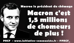 #chiffres du chômage: Macron, c'est 1,5 million de chômeurs en plus #presidentduchomage