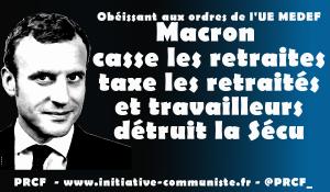 #Retraites : augmenter l'âge de départ, baisser les pensions, le double objectif de Macron-UE-MEDEF !