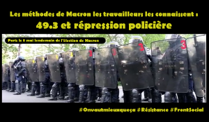 #FrontSocial : Macron c'est la violente répression policière du mouvement social #vidéo #violencespolicières
