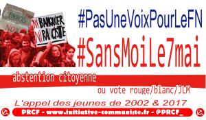 Pourquoi nous nous abstiendrons le 7 mai |Tribune de jeunes manifestants antifascistes de 2002] #sansmoile7mai #pasunevoixpourlefn