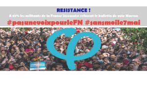 France Insoumise 65% pour refuser de céder au chantage Macron #sansmoile7mai #pasunevoixpourleFn