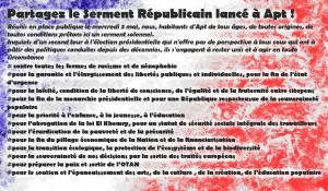Le serment d'Apt : résister et défendre la République. #partagez #retweetez
