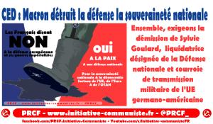 Ensemble, exigeons la démission de Sylvie Goulard,  liquidatrice désignée de la Défense nationale et courroie de transmission militaire de l'UE germano-américaine