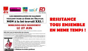 Pour stopper les euro-ordonnances Macron, la mobilisation monte. De Paris à la Seine Maritime en passant par Marseille #frontsocial
