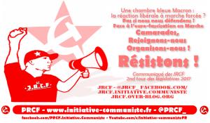 Brisons la vague bleu macron de la réaction libérale en marche forcée : Résistance ! #JRCF