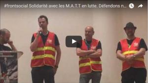 Dans l'Aisne avec les ouvriers de MATT en lutte pour défendre leur usine. #vidéo #frontsocial