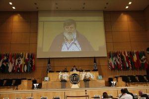 Le vibrant appel de Quim BOIX (FSM) pour les droits à la retraite des travailleurs partout dans le monde [103e conférence de l'OIT]
