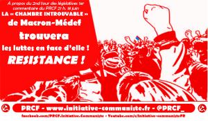 #législatives2017 La chambre Macron-Medef trouvera les luttes en face d'elle ! Résistance !