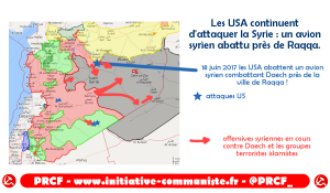Les USA continuent d'attaquer la Syrie. un avion syrien abattu près de Raqqa.