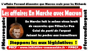 Les affaires En Marche avec Macron : #macrongate #ferrandlargent #marielledesarnez