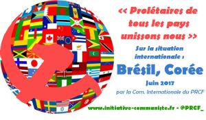 Monde : Le peuple tente de reprendre la main au Brésil, l'impérialisme US menace la paix mondiale en Corée.