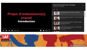 Qu'est-ce que les ordonnances Macron en 10 vidéos avec le Syndicat des Avocats de France