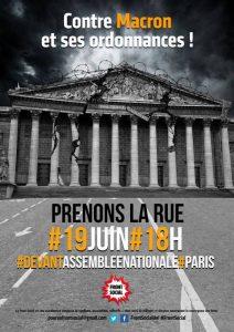 Le PRCF et les JRCF répondent à l'appel du #FrontSocial ! Mobilisation le 19 juin !
