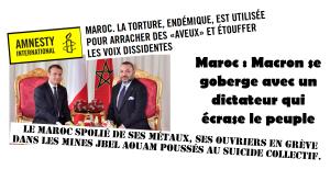 Maroc : Macron se goberge avec Mohamed VI, un roi qui écrase le peuple.
