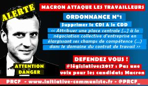 Alerte ! Les 9 ordonnances Macron contre les travailleurs : CDI, indemnités de licenciement, chômage, délégués syndicaux… il veut détruire ce qui reste du Code du Travail !