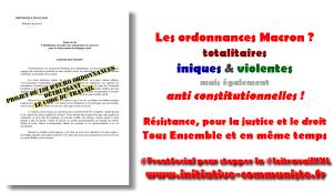 Les Ordonnances anti constitutionnelles et illégales