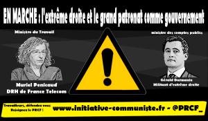 Darmanin, Pénicaud : l'extrême-droite et le grand patronat comme gouvernement.