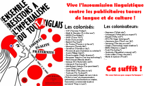 Vive l'insoumission linguistique contre les publicitaires tueurs de langue et de culture !