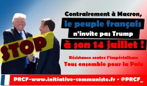 Contrairement à Macron, le peuple français n'invite pas Trump à son 14 juillet !