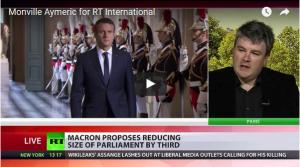 Interviewé par Russia Today Aymeric Monville (PRCF) dénonce Macron qui s'attaque au peuple depuis Versailles