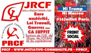 Les jeunes communistes appellent à rejoindre la manifestation du 14 juillet #FrontSocial