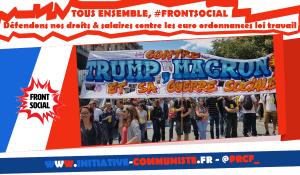 Forte mobilisation contre les ordonnances, l'état policiers Ni #Trum Ni #Macron