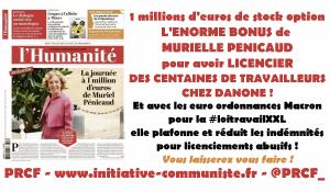 Affaire Pénicaud : 1 millions d'euros de prime pour licencier les salariés de Danone !