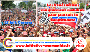 Dans la rue, soutien massif à la constituante au Venezuela #VenezuelaCorazóndeAmerica #VamosConLaConstituyente
