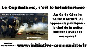 Au G8 de Gêne la police a torturé les opposants politiques : le chef de la police italienne avoue 16 ans après !