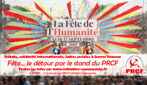 #fetedelhuma Dossier spécial : Il y a toutes les raisons d'aller à la fête de l'Huma au stand du PRCF #programme #débat
