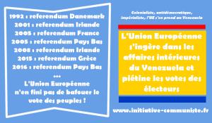 Ultimatum de l'UE à Maduro :l'Union Européenne c'est la politique impérialiste de la canonnière.