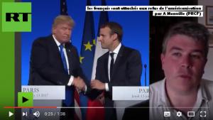 """#vidéo Le PRCF sur Russia Today : """"les français sont attachés aux refus de l'américanisation"""" par Aymeric Monville"""