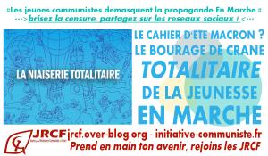 Totalitarisme En Marche : maintenant le Cahier d'été ! #JRCF