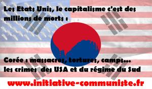 Massacres, tortures, camps en Corée… les crimes  des USA et du régime du Sud