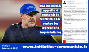 Maradona dénonce le leader de l'opposition vénézuélienne de vendu, et soutient Maduro !