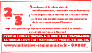 L'immense majorité des français est contre les ordonnances #loitravailXXL : 80% veulent un mouvement social