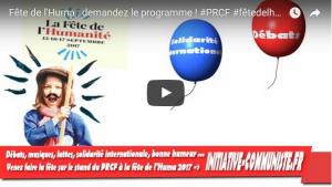 Le Programme de la Fête de l'Huma 2017 en vidéo ! #PRCF #JRCF