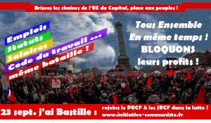 Face au diktat de Macron-MEDEF,  le peuple en marche résiste et signe! #DemainJaiBastille