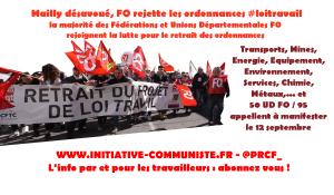 Mailly désavoué : FO contre les ordonnances, ses principales fédérations manifesteront le 12 avec la CGT
