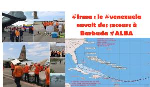 #Irma Ouragan : le #Venezuela envoie des secours à Barbuda