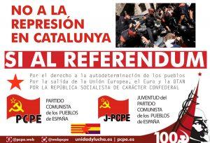 Referendum en Catalogne : l'état bourgeois en crise tombe le masque. La parole au PCPE