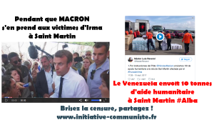 #ALBA le Venezuela envoie 10 tonnes d'aides à Saint Martin, Macron s'en prend aux victimes #Irma
